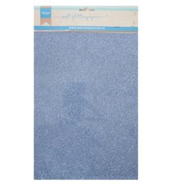 Soft Glitter paper - Blue