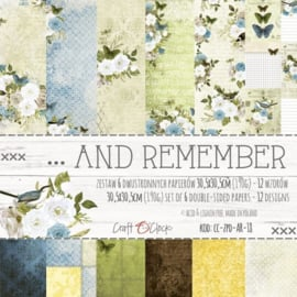 AND REMEMBER - A SET OF PAPERS 30,5X30,5CM