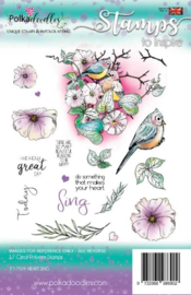 Heart Sing Clear Stamps