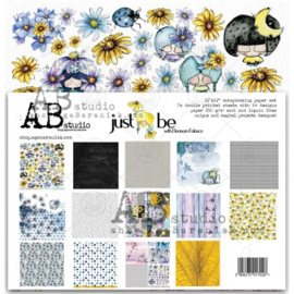 """Set 7x scrapbooking papers """"Just be"""" 12""""x12"""""""