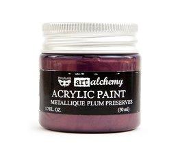 Art Alchemy Acrylic Paint Metallique Plum Preserves