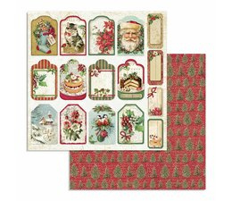Classic Christmas Tag 12x12 Inch Paper Sheet