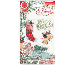 Craft Consortium Noel Clear Stamps Festivity