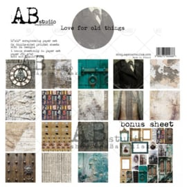 """""""Love for old things""""-scrapbooking paper set 8x 12'x12'"""
