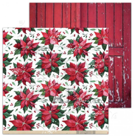 "Scrapbooking paper ""A Holly Jolly Christmas""- sheet 5 ""Waiting for"" -12'x12'"