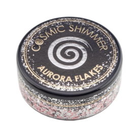 Cosmic Shimmer Aurora Flakes Icy Pink 50ml