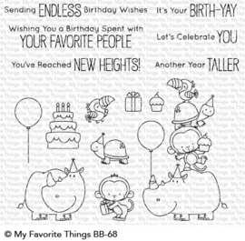 Birth-Yay Clear Stamps