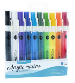 Box 10 acrylic markers Bright Colors nr 01