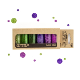 ART INGREDIENTS – GLITTER SET – MARDI GRAS 7G BOTTLE SET OF 6