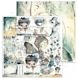 """Scrapbooking paper """"I ove you to the moon..."""" -sheet 12'x12'"""