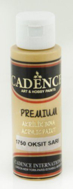Premium acrylverf (semi mat) Oxide geel