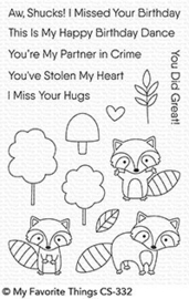 Friendly Raccoons Clear Stamps