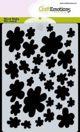 Mask stencil achtergrond bloemen A6 Carla Creaties
