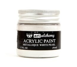 Art Alchemy Acrylic Paint Metallique White Pearl