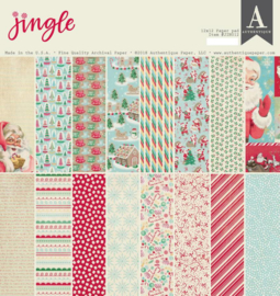 Authentique Jingle 12x12 Inch Paper Pad