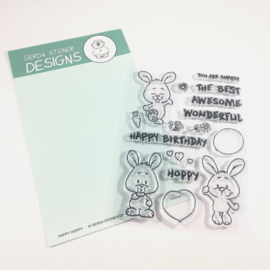 Happy Hoppy 4x6 Bunny Clear Stamp Set