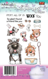 Polkadoodles Woof You Clear Stamps