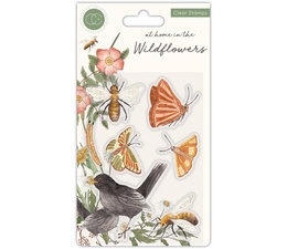 At Home in the Wildflowers Clear Stamps Bees & Butterflies