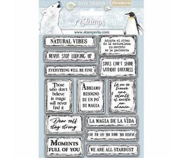 Natural Rubber Stamp Arctic Antarctic Quotes
