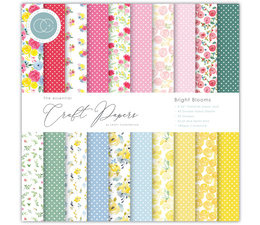 Essential Craft Papers 6x6 Inch Paper Pad Bright Blooms