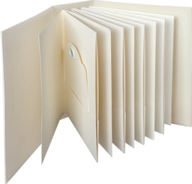 ATC Rectangle Tag & Pocket Album Ivory