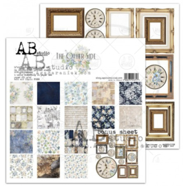 """Set 8x scrapbooking papers """"The other side""""- 30x30+bonus page"""