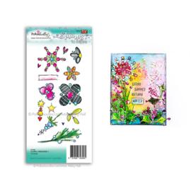 Floral Fireworks 1 Clear Stamp