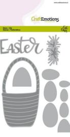 CraftEmotions Die - Easter - paasmandmet eieren Card 10,5x14,8cm Carla Creaties