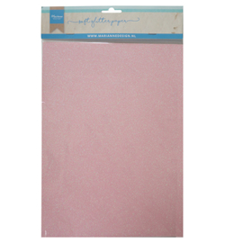 Soft Glitter paper - Light pink