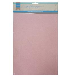 Soft Glitter paper - Light pink