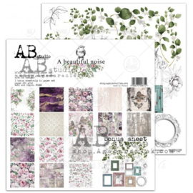 """Paper pad 6"""" x 6"""" - 25 sheets """"A beautiful noise"""""""