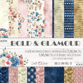 BOLD & GLAMOUR - A SET OF PAPERS 15,25X15,25CM