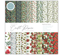 Essential Craft Papers 12x12 Inch Paper Pad Festive Flora