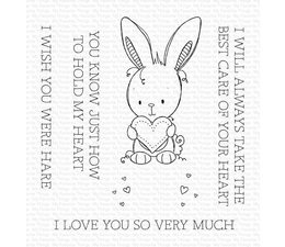 Wish You Were Hare Clear Stamps