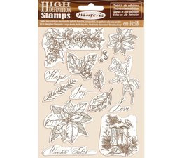 Natural Rubber Stamp Poinsettia