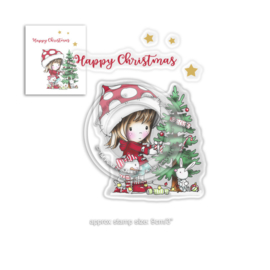Winnie Christmas Tree Clear Stamps