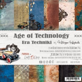 AGE OF TECHNOLOGY - A SET OF PAPERS 20,3X20,3CM