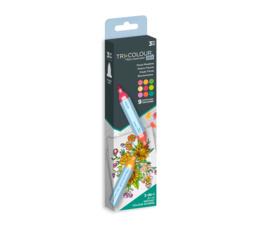 TriColour Aqua Markers Floral Meadow
