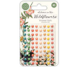 At Home in the Wildflowers Adhesive Enamel Dots