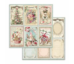 Pink Christmas Cards 12x12 Inch Paper Sheets (10pcs) (SBB702)