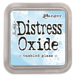 distress oxide tumbled glass