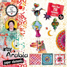Artsy Arabia die cut block 200x200mm nr.02