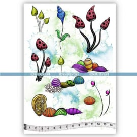 TAMPONS WHIMSY FLEURS A5