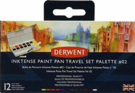 Inktense Paint Pan Travel Set #02 12 kleuren