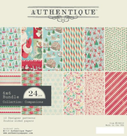 Authentique Jingle 6x6 Inch Paper Pad