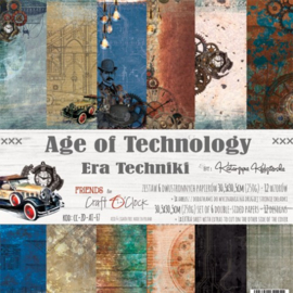 AGE OF TECHNOLOGY - A SET OF PAPERS 30,5X30,5CM