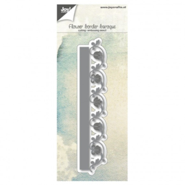 Joy!Crafts snij- embosstencil bloemenrand barok
