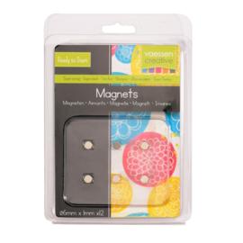 Vaessen Creative • Magneet Ø6x1mm Ni coated 12 stuks