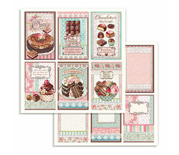 Chocolate Cards 12x12 Inch Paper Sheets
