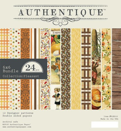 Authentique Pleasant 6x6 Inch Paper Pad